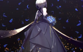 Picture girl, roses, the saber, Saber Age, Fate / Grand Order, The destiny of a great …