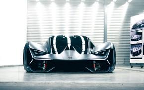 Picture light, reflection, Lamborghini, front view, the room, 2017, The Third Millennium Concept