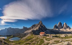 Wallpaper Italy, The Dolomites, Paterno