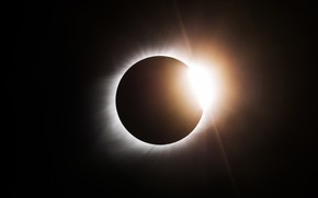 Picture rays, The sun, shadow, The moon, a total solar Eclipse