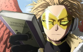 Picture wings, glasses, book, guy, My Hero Academia, Boku No Hero Academy, My Hero Academy