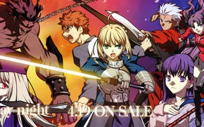 Picture girl, characters, the saber, Emiya Shirou, Artoria Pendragon, Fate stay night, Berserker, Fate / Stay …