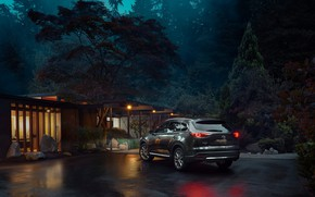 Picture forest, house, transport, car, MAZDA CX-9