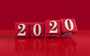 Picture figures, New year, cube, figure, 2020