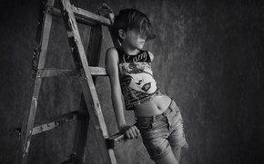 Picture photo, girl, monochrome, Chakhvadze Bessarion