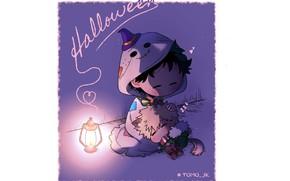 Picture boy, Halloween, My Hero Academia, Boku No Hero Academy, Midori Isuku, My Hero Academy