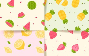 Picture background, texture, strawberry, fruit, patterns, Summer, collection