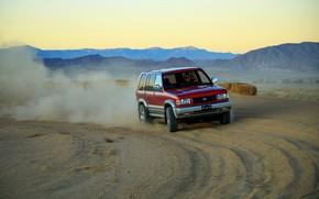 Picture sand, dust, the ground, SUV, Acura, 1997, AWD, 2019, Isuzu Trooper, Super Handling SLX, SLX