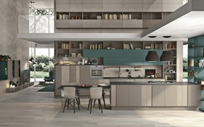 Picture design, style, interior, kitchen, dining room, modern style