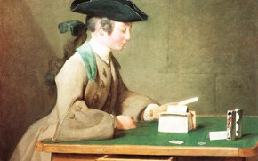 Picture picture, genre, Jean Baptiste Simeon Chardin, House Of Cards, Jean-Baptiste Simeon Chardin