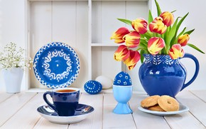 Picture coffee, Breakfast, cookies, composition, Anya Ivanova