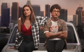 Picture machine, girl, Love, Love, glasses, the series, shirt, guy, Tv Series, Love Tv Series