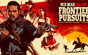 Picture weapons, knife, the bandits, Wild West, revolver, Red Dead Redemption 2, Red Dead Online, Krips