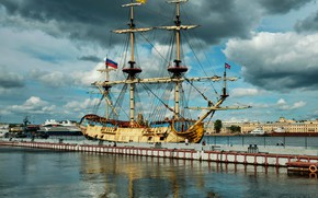 Picture sailboat, Poltava, replica