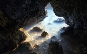 Picture sea, nature, shore, cave