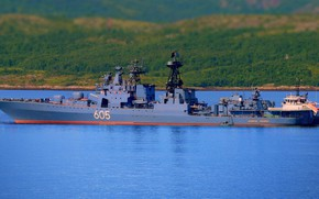 Picture ship, large, anti-submarine, project 1155, Admiral Levchenko