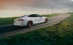 Wallpaper Tesla, Model S, Novitec, 2017