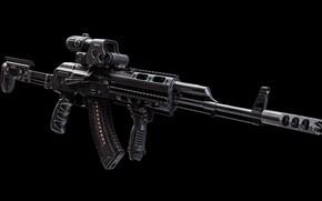 Picture rendering, weapons, tuning, machine, gun, weapon, render, custom, Kalashnikov, Custom, AKM, Kalash, AKM, assault rifle, …