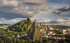 Picture the city, rock, France, home, Cathedral, chapel, France, Chapel of Saint-Michel d'Aiguilhe