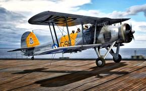 Picture UK, Deck, bomber-torpedo, Royal Navy, Radial engine Bristol Pegasus, Fairey Swordfish Mk.I