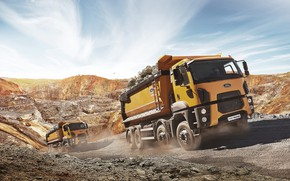Picture ford, cargo, 8x4, dump truck