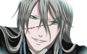 Picture look, guy, scar, Dark Butler, Kuroshitsuji, the undertaker