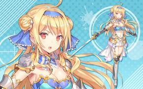 Picture girl, weapons, sword, Bullet Girls Phantasia