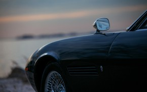 Picture black, Maserati, mirror, 1969, Roadster, body, spider, Ghibli Spider