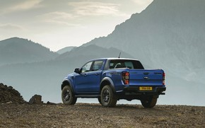 Picture mountains, blue, open, Ford, Raptor, pickup, 2018, Ranger
