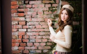 Picture bokeh, girl, cutie, Asian