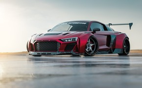Picture Audi, Red, Auto, Machine, Tuning, Audi R8, Sports car, Transport & Vehicles, Javier Oquendo, by …
