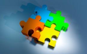 Picture background, elements, puzzle