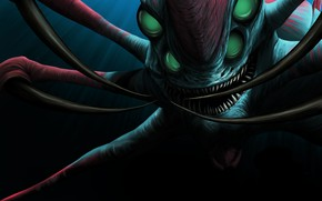 Picture monster, being, Subnautica, suplicy