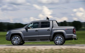 Picture Volkswagen, pickup, Amarok, in profile, Double Cab, 2016, Aventura