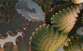 Picture form, fractal, greenish color