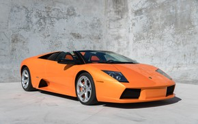 Picture Supercar, Orange Car, Lamborghini Murcielago Roadster, Italian Car