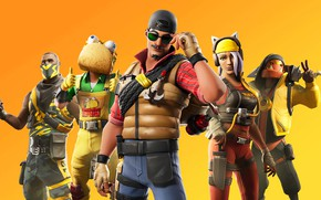 Picture background, characters, Fortnite