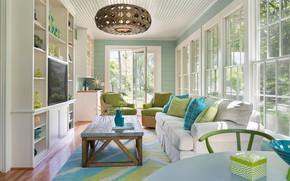 Picture Windows, interior, windows, living room, mid-century modern, sunroom