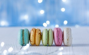 Picture Colorful, cookies, macaroons, almond