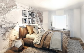 Picture room, interior, bedroom