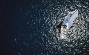 Picture sea, yacht, sail, Adriatica