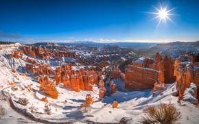 Picture the sun, rocks, canyon, Utah, USA