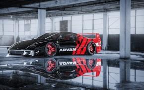 Picture Water, Reflection, Auto, Machine, Car, Ferrari F40, Sports car, Ferrari F-40, Transport & Vehicles, Javier …