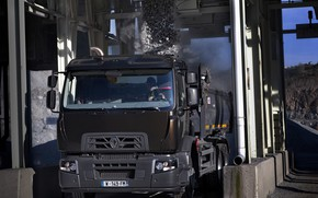 Picture dust, Renault, waiting, download, dump truck, triaxial, Renault Trucks, C-series