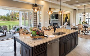 Picture interior, kitchen, living room, cozy, dining room, Willowsford, Oakton F