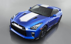 Picture Blue, 50th Anniversary Edition, Japan Car, White Stripes, 2020 Nissan GT-R