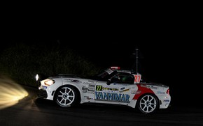 Picture road, night, rally, 2018, Abarth, 124 Rally