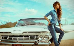 Picture girl, style, retro, Chevrolet Impala, DEREK HEISLER