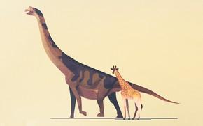 Picture Minimalism, Style, Giraffe, Dinosaur, Art, Art, Style, Minimalism, Dinosaurs, Giants, Atlas of the dinosaurs, James …