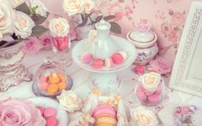 Picture rose, cakes, FLOWER, Pasta